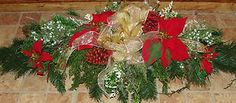 christmas saddles for headstones | Christmas Cemetery Tombstone Saddle Headstone Spray Decoration Grave ...