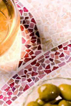 Décors de table en mosaïque