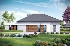 DOM.PL™ - Projekt domu CPT HomeKONCEPT-31 CE - DOM CP1-34 - gotowy koszt budowy Modern Family House, Modern House Plans, Modern House Design, Pergola, Gazebo, Best Home Plans, House Plans Mansion, Fantasy House, Cottage Exterior