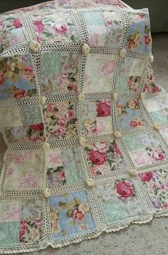 Crochet & Fabric Quilt Tutorial Bed Covers