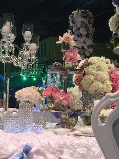 Cinderella Disney Wedding Table with Flower Arrangements