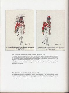 Army of Egypt: Plate 16: 9th Line Infantry Demi-Brigade, Grenadier 1st Sergeant, 1799. + Plate 17: 9th Line Infantry Demi-Brigade, Grenadier, 1799.