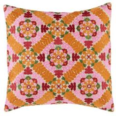 A Blossoming Throw Pillow  | Crate and Barrel