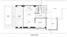 Plano de casa de dos pisos (primera planta)