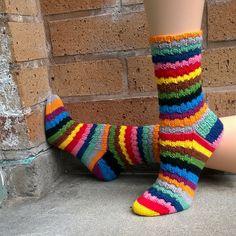 Ravelry: London Gap pattern by Kim Swingle Wool Socks, Knitting Socks, Hand Knitting, Stitch Patterns, Knitting Patterns, Knit In The Round, Striped Socks, How To Purl Knit, Sock Yarn