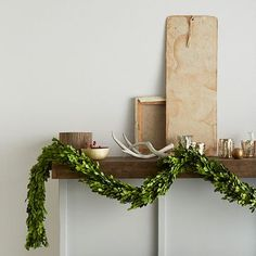 Boxwood Garland #westelm I'll look for a cheaper version but I do love this...