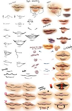Anime lips drawing anime and realism lips on deviantart Drawing Techniques, Drawing Tips, Drawing Reference, Drawing Ideas, Male Drawing, Anatomy Reference, Drawing Lessons, Figure Drawing, Boca Anime
