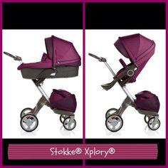 I LOVE this purple Stokke stroller!