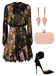 """Untitled #693"" by lovelifesdreams on Polyvore featuring Giambattista Valli, Christian Louboutin, Alexander McQueen and Larkspur & Hawk"