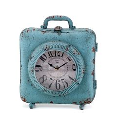 Zegar Mazine Color Of The Year, Helsinki, Suitcase, Shabby Chic, Paris, Retro, Vintage, Rose Quartz, Serenity