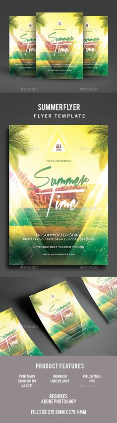 Summer Pool Party Psd Flyer Template Psd flyer templates - summer flyer template