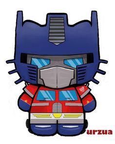 optimus prime kitty by rancid1881.deviantart.com on @deviantART