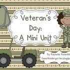 This mini unit contains fun activities to supplement your Veteran's Day studies. It includes:Informational Writing Template - Main Idea