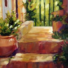 """Daily Paintworks - """"Sun and Shadow"""" - Original Fine Art for Sale - © Libby Anderson"""