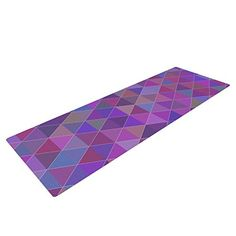 """Kess InHouse Louise """"Abstract"""" Yoga Exercise Mat, Purple, 72 x 24-Inch * Read more  at the image link."""