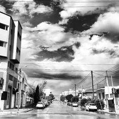 Cielo nublado sobre Comodoro Rivadavia.