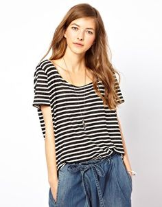 Denham Striped Relaxed T-Shirt