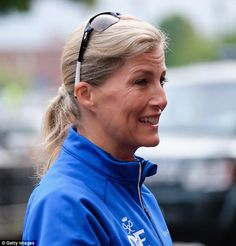 The Countess of Wessex was still in high spirits as she set off from York on day four of her epic 450-mile bike ride this morning. Sophie, 51, will cycle from Edinburgh to Buckingham Palace.