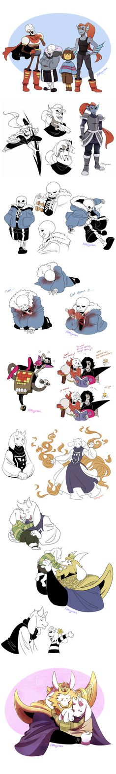 TUMBLR: yamsgarden.tumblr.com/post/137… Here's just a few drawings I made for practice and that I thought were interesting enough to share I finally drew the Dreemurr family I haven't seen a...