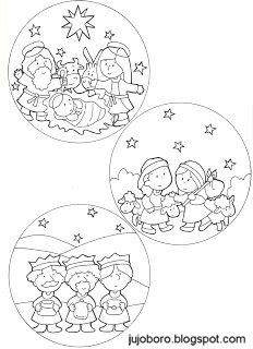Christmas Nativity, Christmas Crafts For Kids, Christmas Activities, Christmas Printables, Christmas Colors, Winter Christmas, Christmas Time, Christmas Ornaments, Christmas Doodles