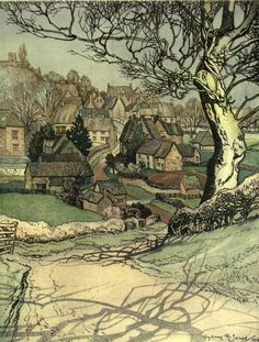 ۩۩ Painting the Town ۩۩  city, town, village & house art - Sydney R. Jones, The Village Homes of England (1912)