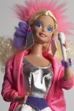 Child of the (I remember the day I got this exact Barbie! She came with a Barbie and the Rockers cassette tape. 1980s Barbie, Vintage Barbie, Vintage Toys, Barbie Barbie, Barbie Stuff, Vintage Ideas, 1980s Childhood, My Childhood Memories, Baby Dolls