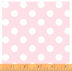 Cotton Fabric in Light Pink Polka Dot from Windham Fabrics