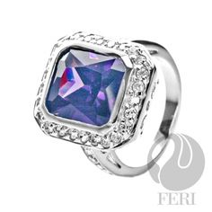 - 925 fine sterling silver - 0.5 micron natural rhodium plating - Set with AAA white cubic zirconia and purple cubic zirconia - Dimension:  Invest with confidence in FERI Designer Lines https://www.globalwealthtrade.com/vdm/display_item.php?referral=jgala&category=12&item=2973&cntylng=&page=9