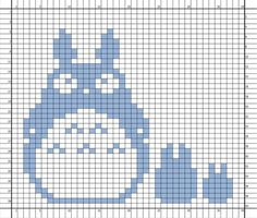 Nerdcrafts: Knit or embroider this pattern: Totoro Double-Knit Potholder Wool Applique Patterns, Embroidery Patterns, Cross Stitch Patterns, Fair Isle Knitting Patterns, Knitting Charts, Crochet Blocks, Crochet Chart, Perler Bead Templates, Mini Cross Stitch