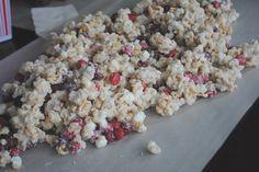 Cherry Vanilla Caramel Corn - Shugary Sweets