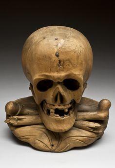 Memento mori skull and crossbones, Europe, 1801-1900