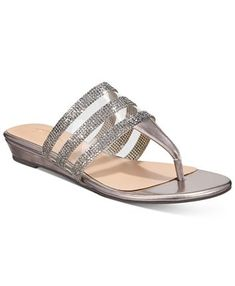 Thalia Sodi Idina Flat Sandals, Created For Macy's - Pewter Vinyl Flat Sandals, Shoes Sandals, Flats, Flip Flop Shoes, Flip Flops, Mango Shoes, Sexy Toes, Tech Gifts, Mens Sale