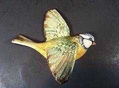 Beswick England Flying Bird Wall Plaque Blue Tit Bird 705 Vintage | eBay