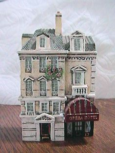 J. CARLTON BY DOMINIQUE GAULT OPERA HOTEL MINIATURE HAND PAINTED FRANCE