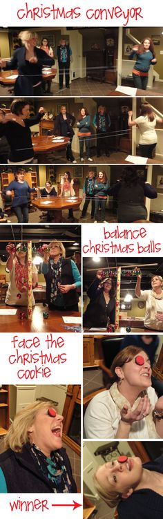 Christmas minute to win it games...@Donita Jacobson Jacobson Jacobson Jacobson King we should do this for Christmas Day fun.