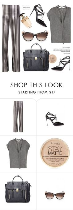 """In the Office"" by firstboutique ❤ liked on Polyvore featuring Brunello Cucinelli, Rimmel, 3.1 Phillip Lim, Thierry Lasry, Prada and WorkWear"