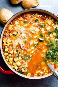 Best healthy and hearty homemade Vegetable Soup Recipe with any vegetables, one secret flavour booster ingredient and cooked on a stove, in slow cooker or Instant Pot. #cleaneating #healthy #soup #vegetables #diet #recipe #recipes #instantpot #slowcooker
