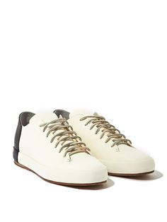 Feit Mens Bicolour Low Leather Sneakers