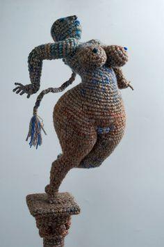 Artist of the day, March Yulia Ustinova, Russian crochet artist, sculptor Knit Art, Crochet Art, Love Crochet, Crochet Dolls, Crochet Patterns, Russian Crochet, Fun Illustration, Yarn Bombing, Soft Sculpture