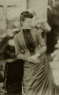 Louise Margaret, Duchess of Connaught, nee Prinzessin von Preussen. 1886.