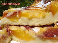 Flan aux nectarines et à la vanille | Couleurdevie Desserts Printemps, Gateaux Cake, Cheesecakes, Gluten Free Recipes, Biscuits, Sandwiches, Food And Drink, Vegan, Cooking