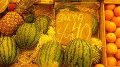 sandía (esp) X  melancia (port)