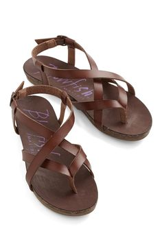 Everyday Nonchalance Sandal in Brown, #ModCloth