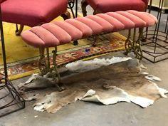 Pink French Bench   Dealer #0116   $125  Lucas Street Antiques Mall 2023 Lucas Dr.  Dallas, TX 75219