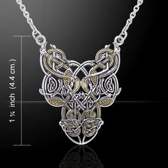 Intricate Celtic Knotwork Necklace - Timeless Elegence - Celtic Eternity in Sterling Silver with 18k gold accents (vermeil) Celtic Knotwork may be an ancient representation of the wonder and power inh
