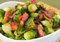 Brussels Sprouts, Broccoli & Bacon w-Maple Dijon Vinaigrette