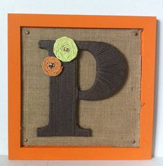 Framed yarn letters tutorial. Look at their take on your project @Nicole Klein