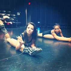 Dance Moms never would be able to do the splits