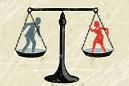 Balance Scale with man and woman - iStock Vectors / Getty Images