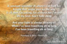 Mumford & Sons - Reminder